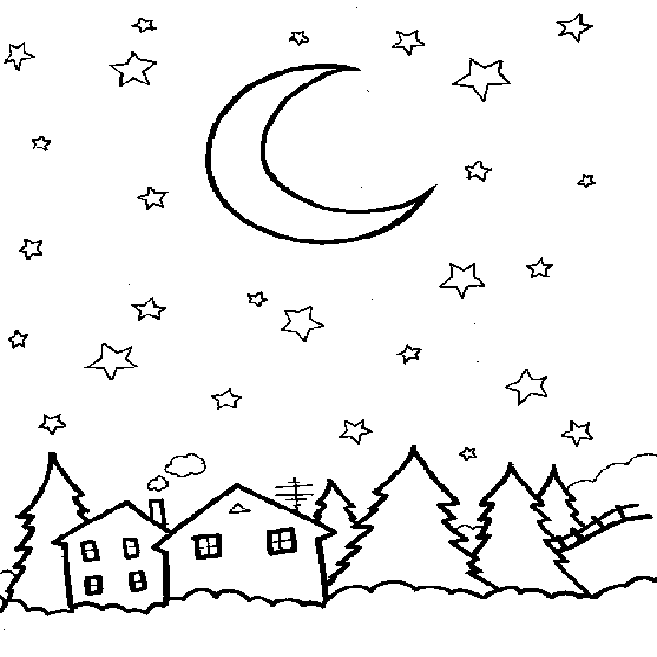 Starry Sky coloring #19, Download drawings