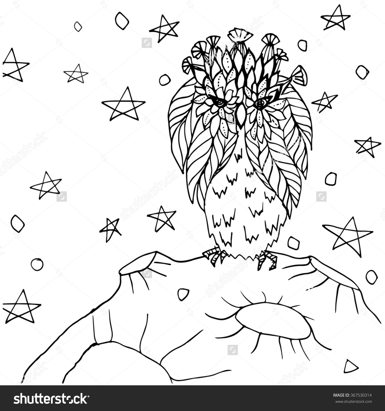 Night Sky Coloring Pages