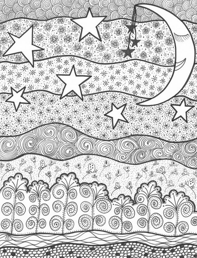 Starry Sky coloring #5, Download drawings
