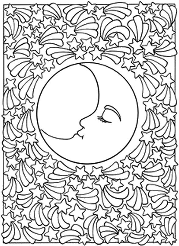 Celestial coloring #2, Download drawings