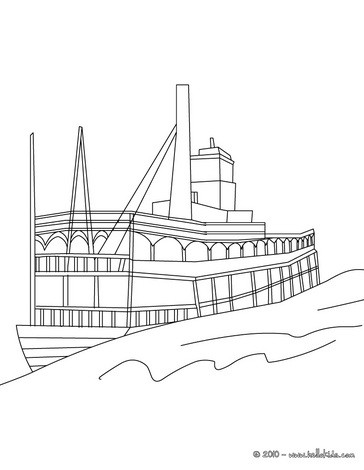 Steamboat coloring #12, Download drawings