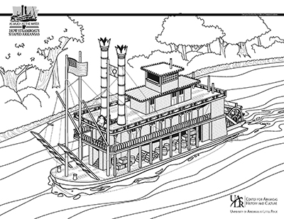 Steamboat coloring #2, Download drawings