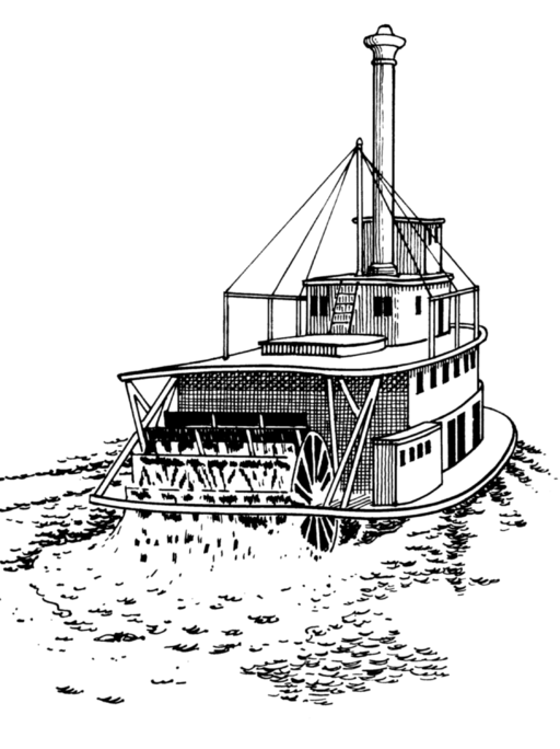 Steamboat coloring #8, Download drawings