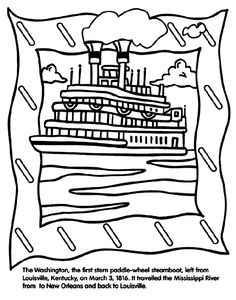 Steamboat coloring #6, Download drawings