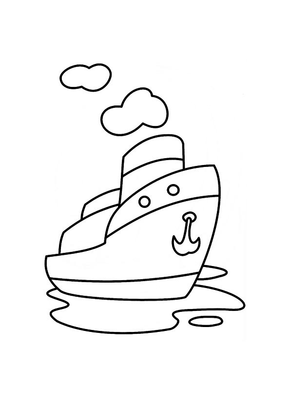 Steamboat coloring #3, Download drawings