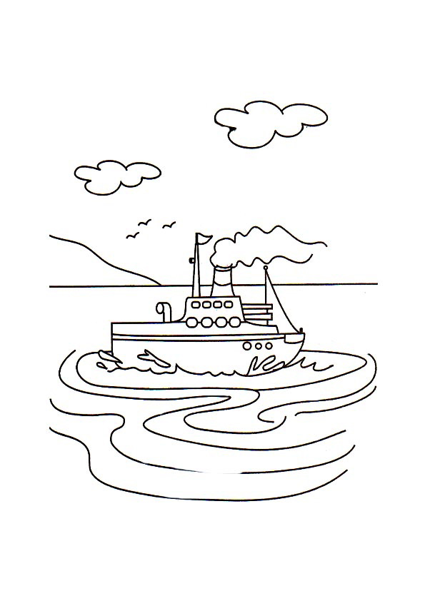 Steamboat coloring #16, Download drawings