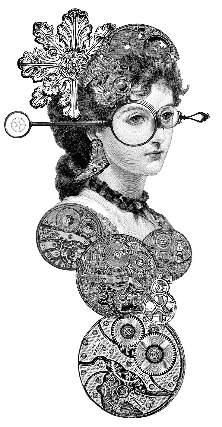 Steampunk clipart #4, Download drawings