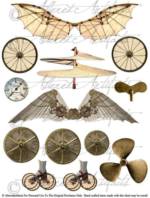 Steampunk clipart #18, Download drawings