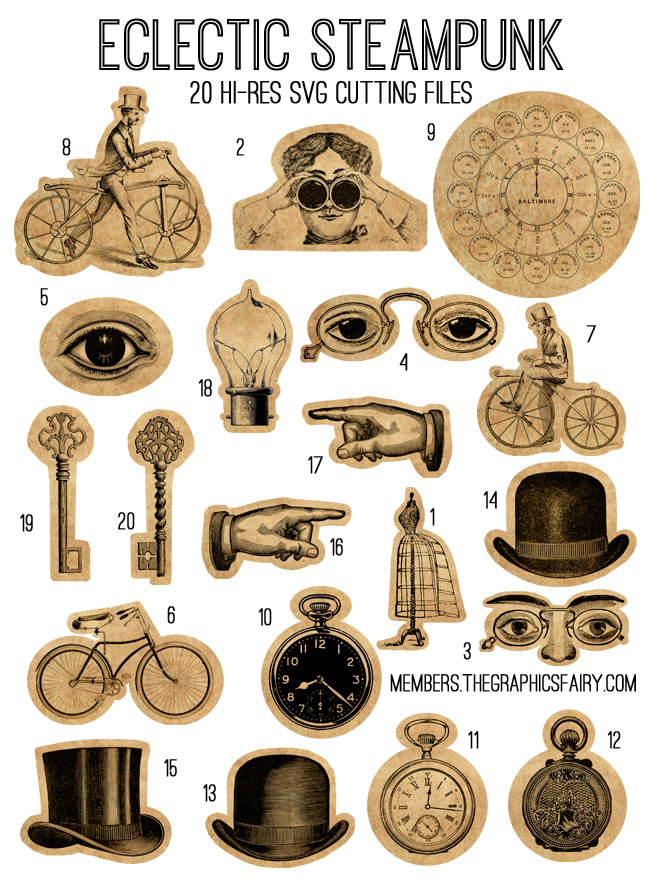 Steampunk svg #20, Download drawings