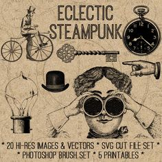 Steampunk svg #7, Download drawings