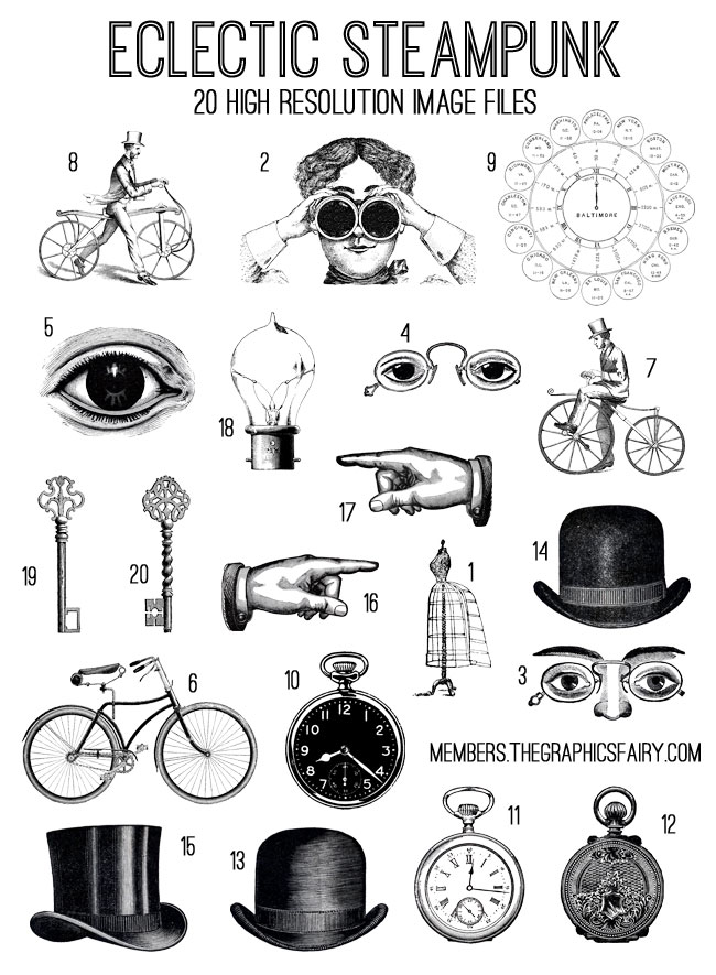 Steampunk svg #15, Download drawings