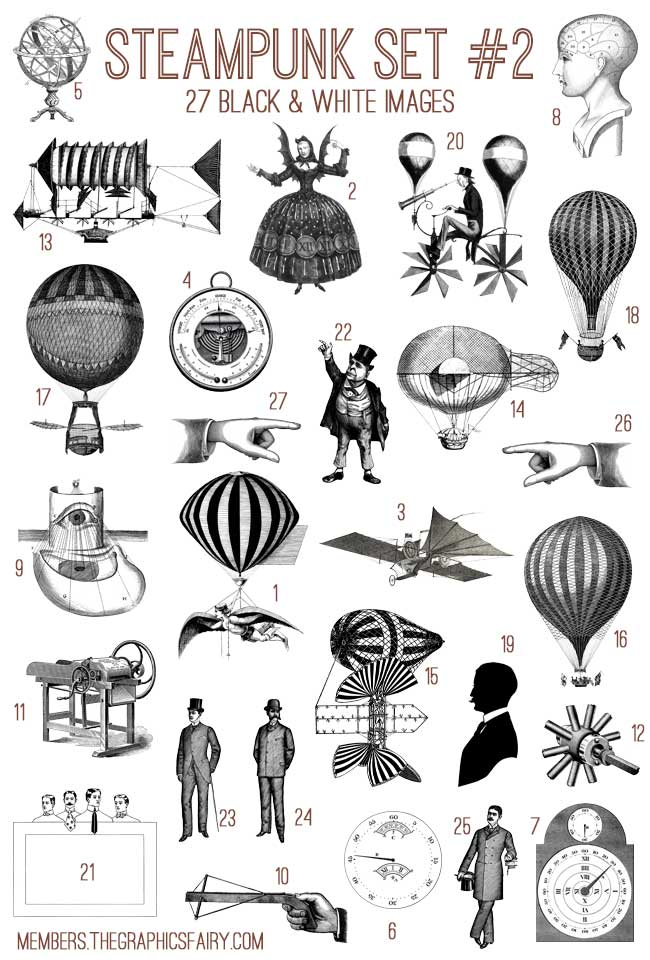 Steampunk svg #10, Download drawings