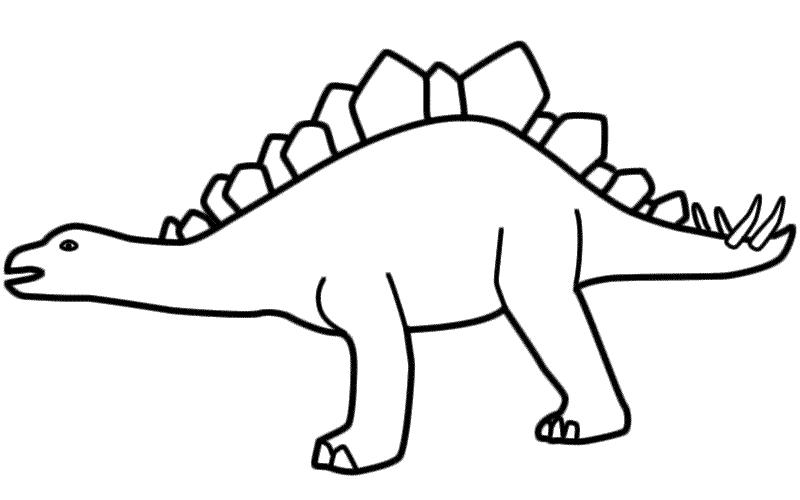 Stegosaurus coloring #17, Download drawings