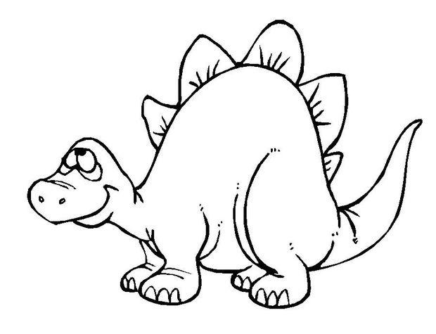 Stegosaurus coloring #13, Download drawings