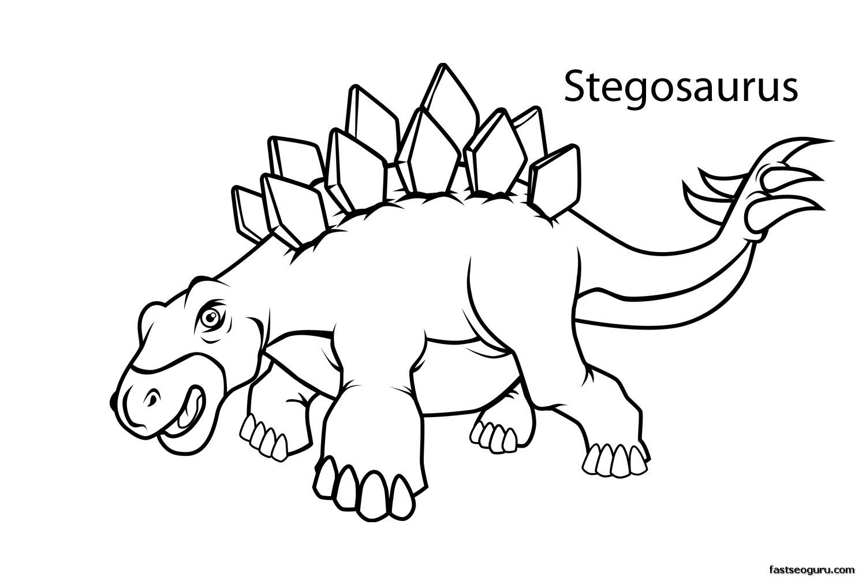 Stegosaurus coloring #2, Download drawings