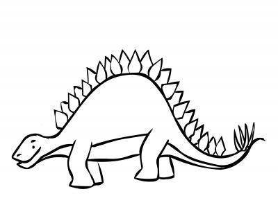 Stegosaurus coloring #16, Download drawings