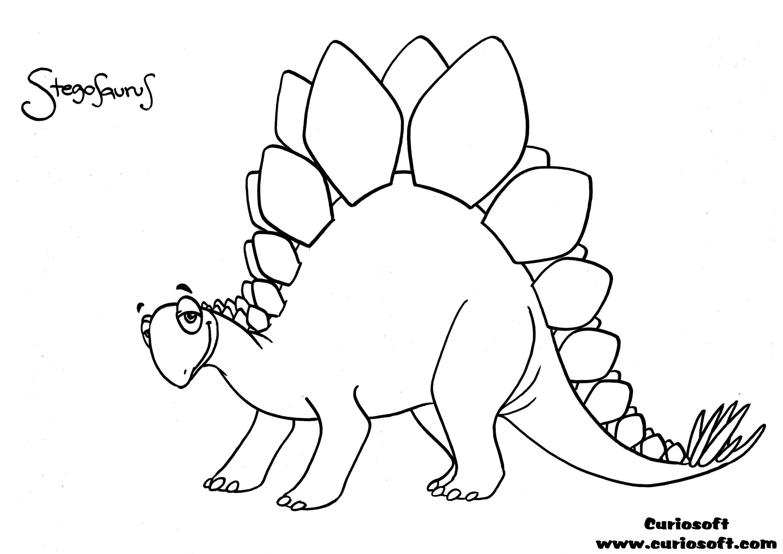 Stegosaurus coloring #4, Download drawings