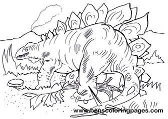 Stegosaurus coloring #1, Download drawings