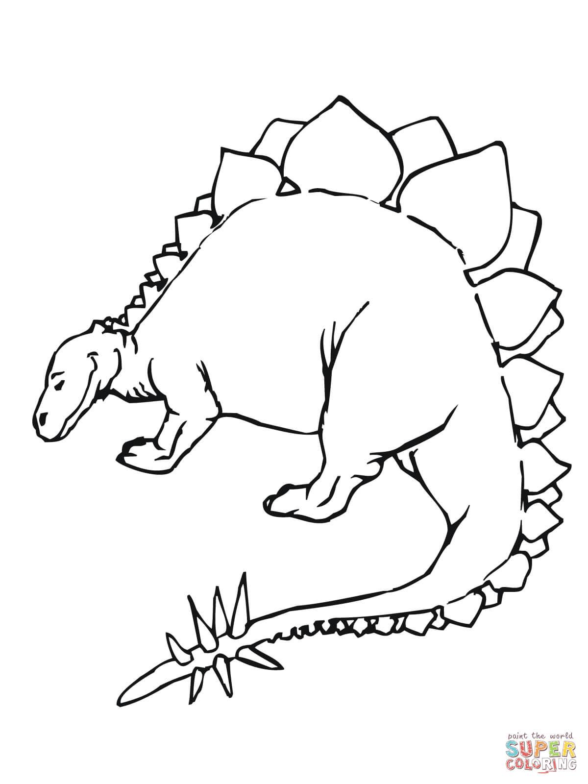 Stegosaurus coloring #11, Download drawings