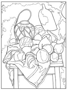 Still Life coloring #7, Download drawings