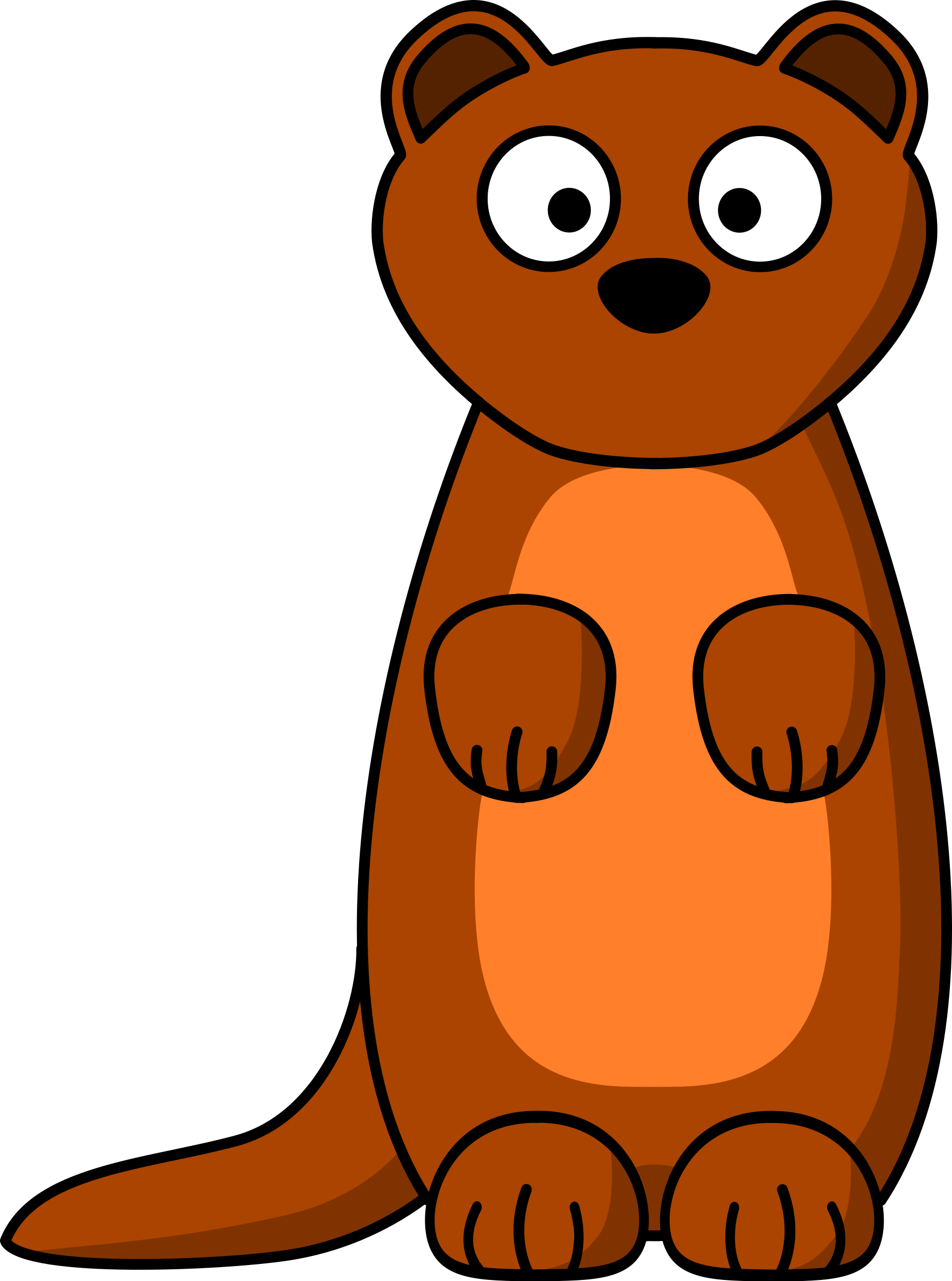 Stoat clipart #2, Download drawings