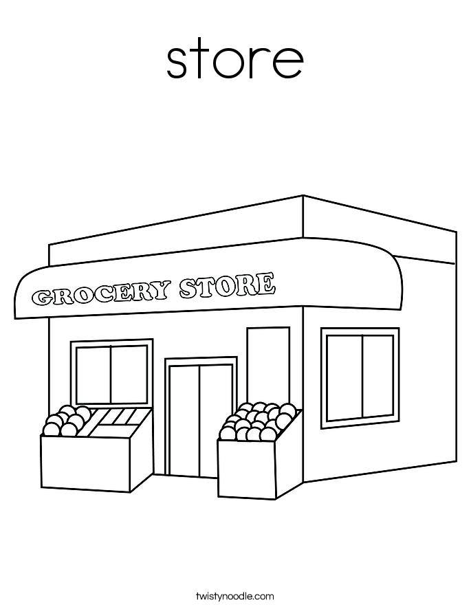 Store coloring #20, Download drawings
