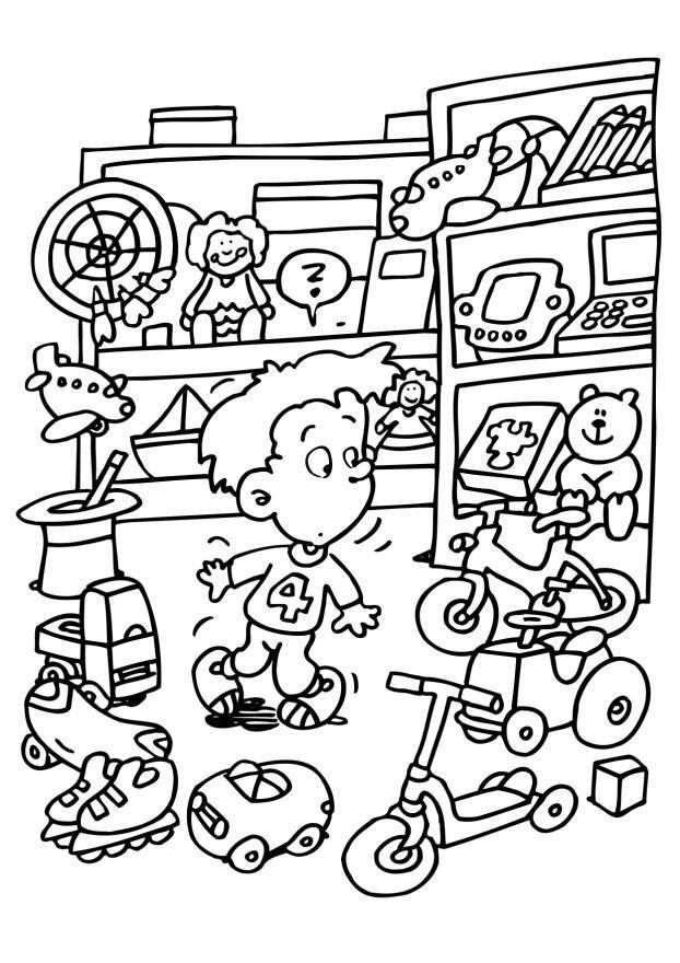 Store coloring #5, Download drawings