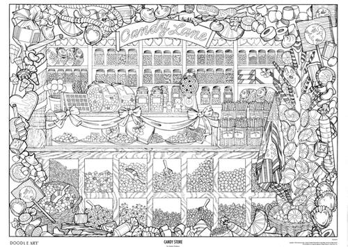 Store coloring #6, Download drawings