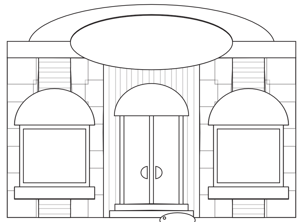 Adult Store Fronts Coloring Page