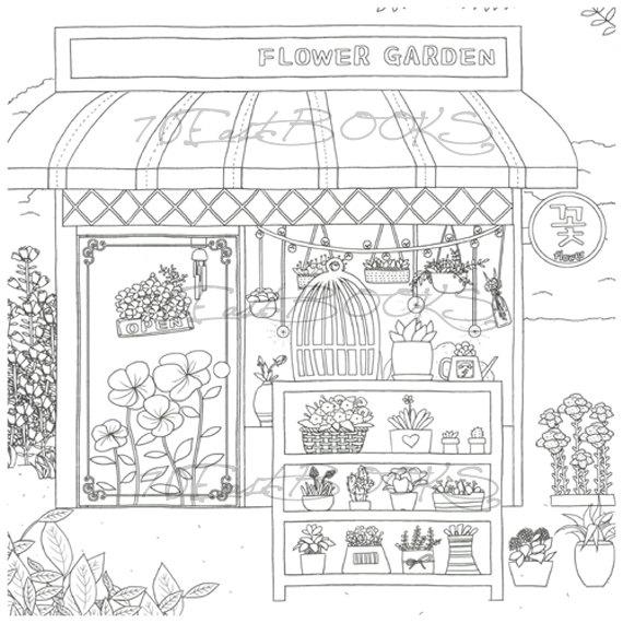 Store coloring #3, Download drawings