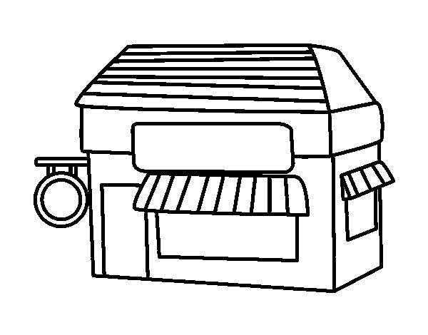 Store coloring #1, Download drawings