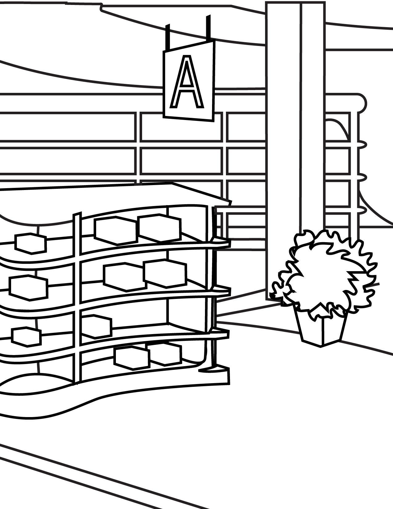 Store coloring #12, Download drawings