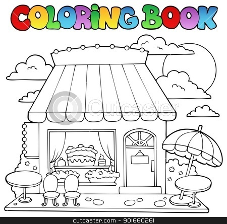 Store coloring #9, Download drawings
