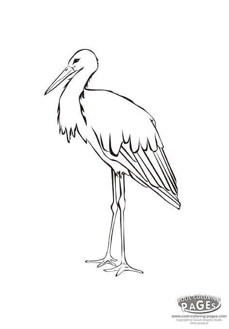 Stork coloring #10, Download drawings