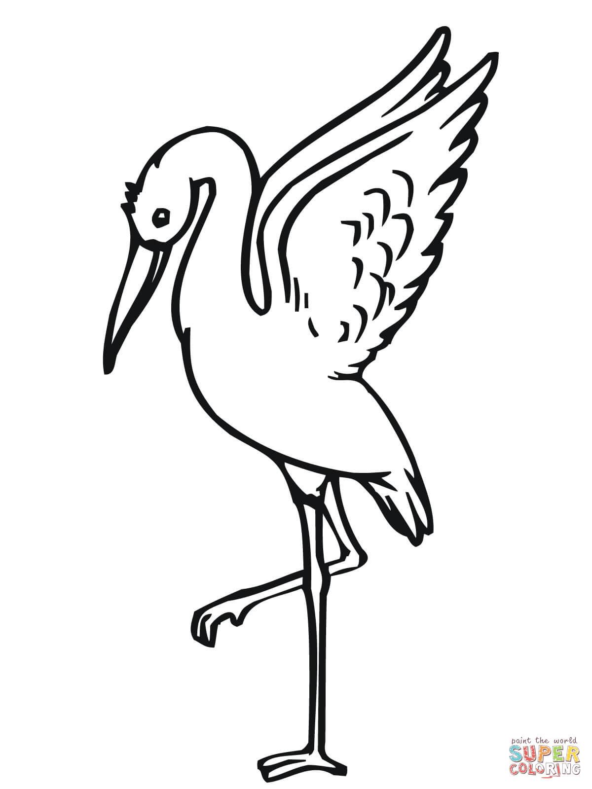 Stork coloring #11, Download drawings
