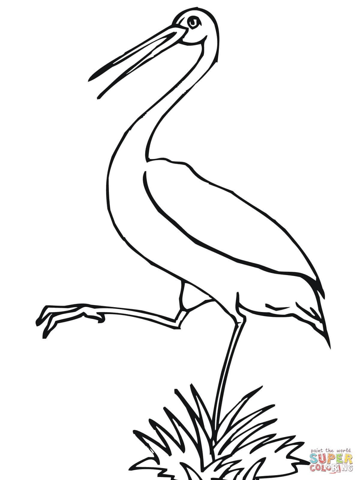 Stork coloring #16, Download drawings