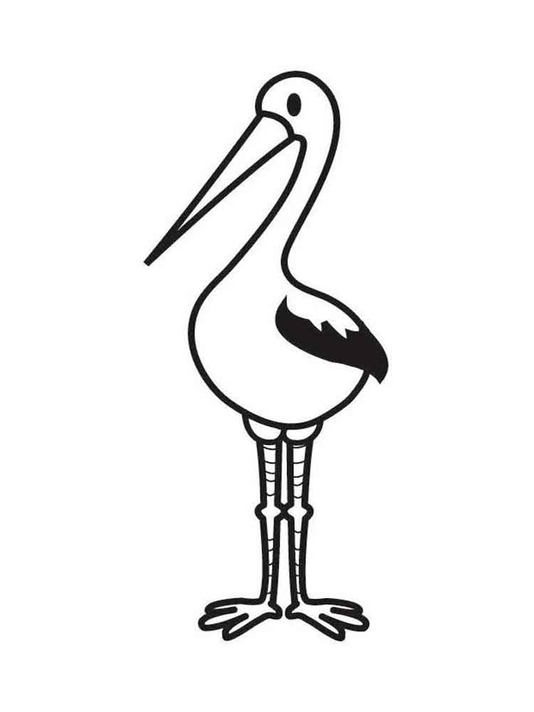 Stork coloring #9, Download drawings