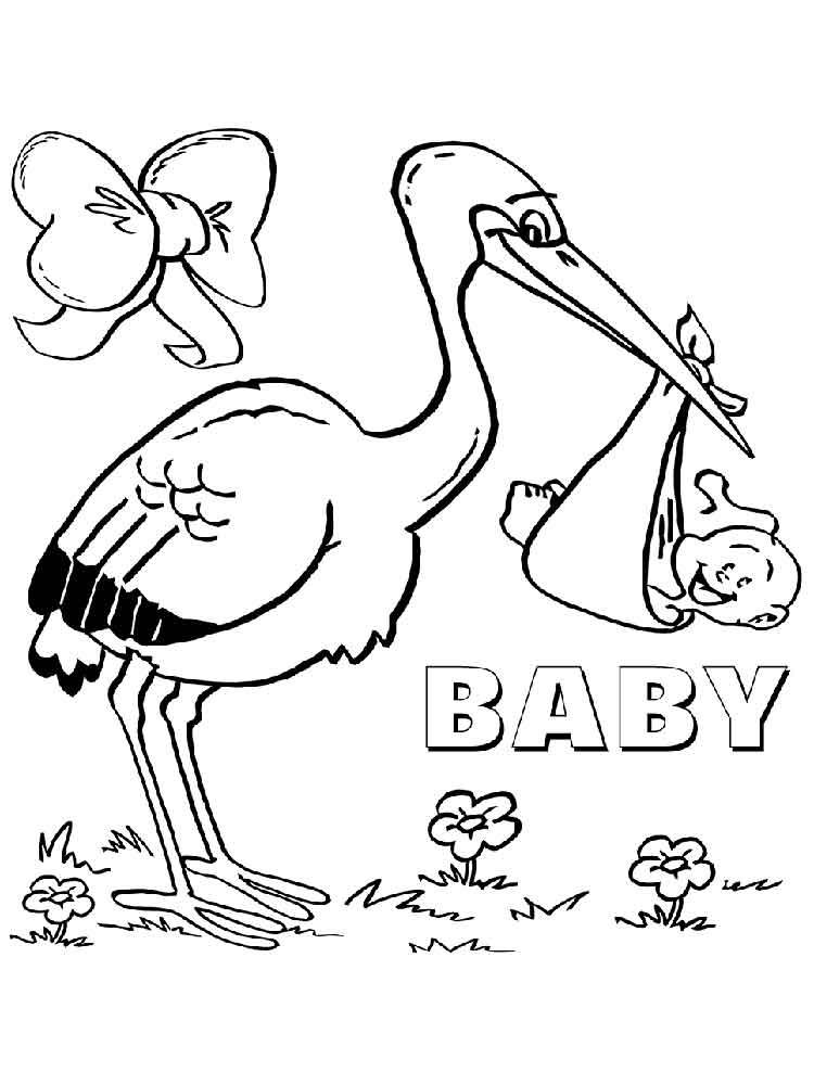 Stork coloring #8, Download drawings