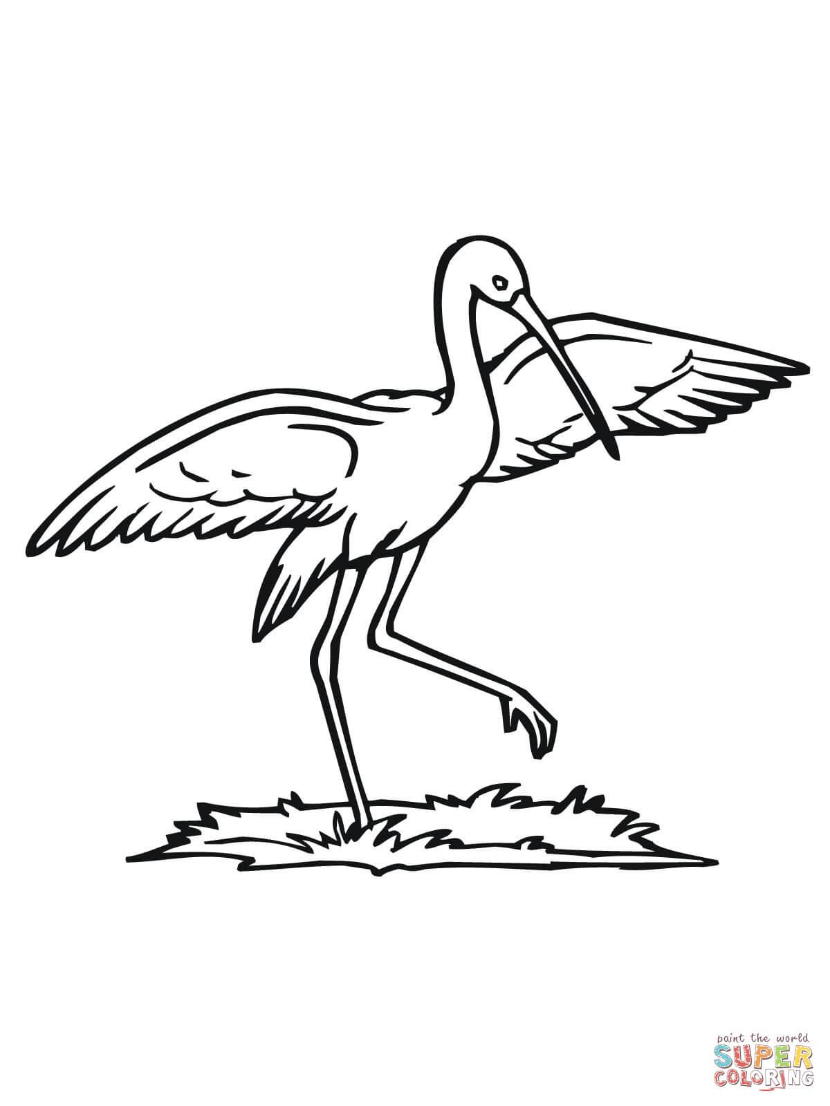 Stork coloring #7, Download drawings