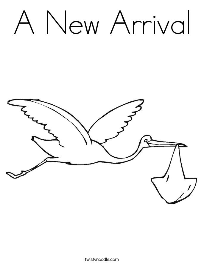 Stork coloring #4, Download drawings