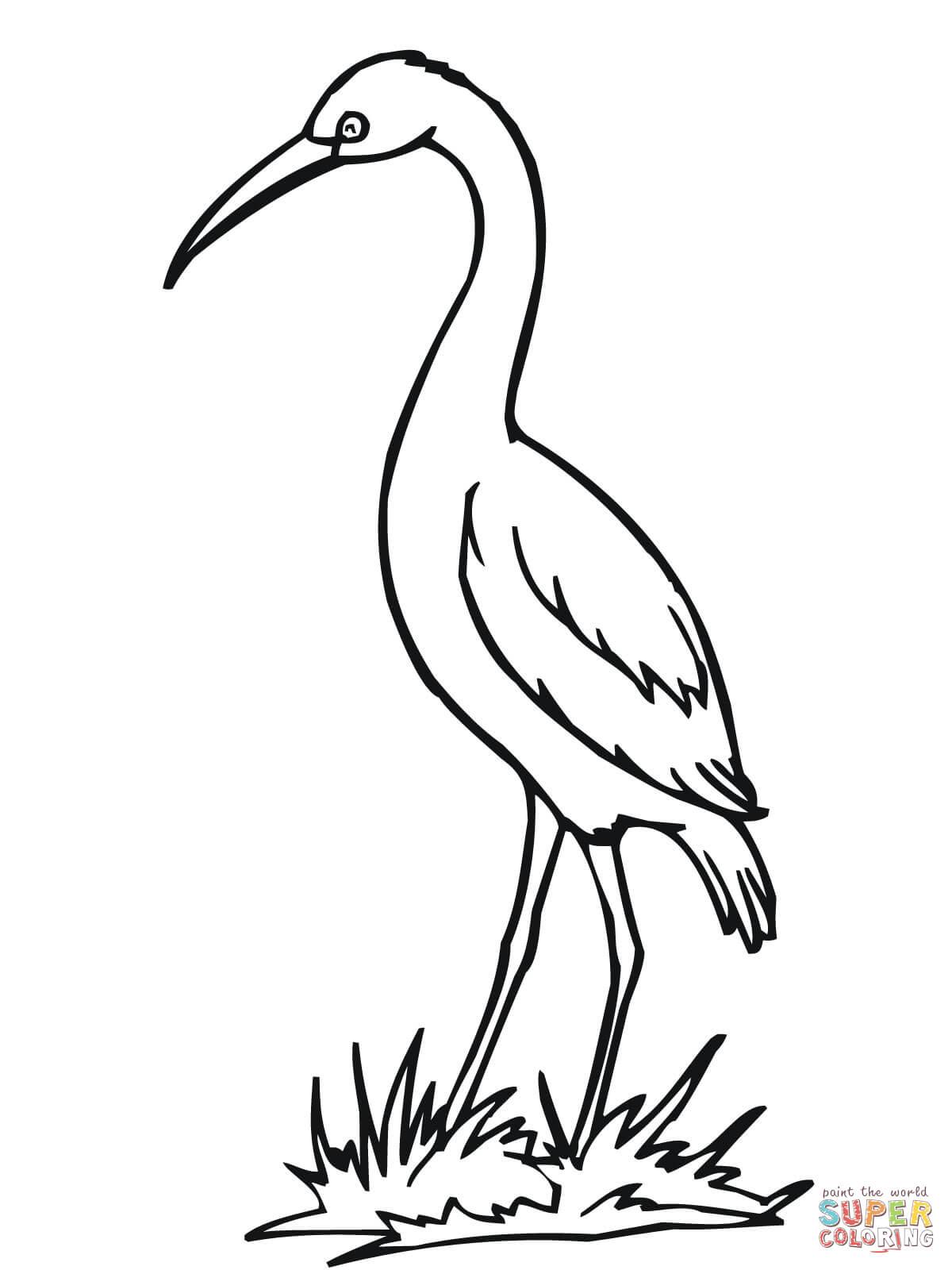 Stork coloring #12, Download drawings