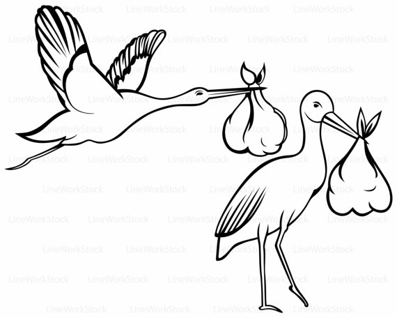 White Stork svg #4, Download drawings