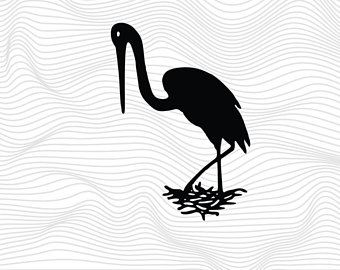 White Stork svg #5, Download drawings
