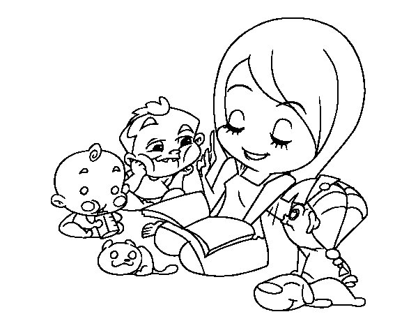 Storyteller coloring #12, Download drawings