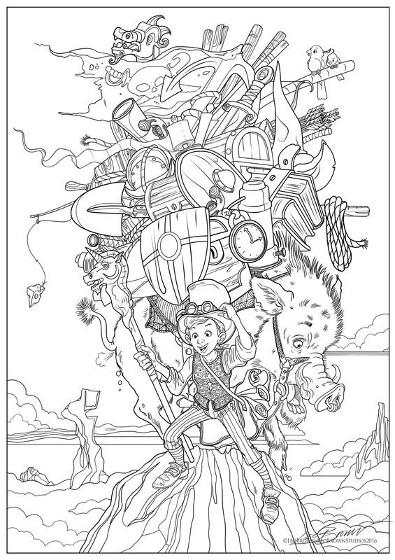 Storyteller coloring #11, Download drawings