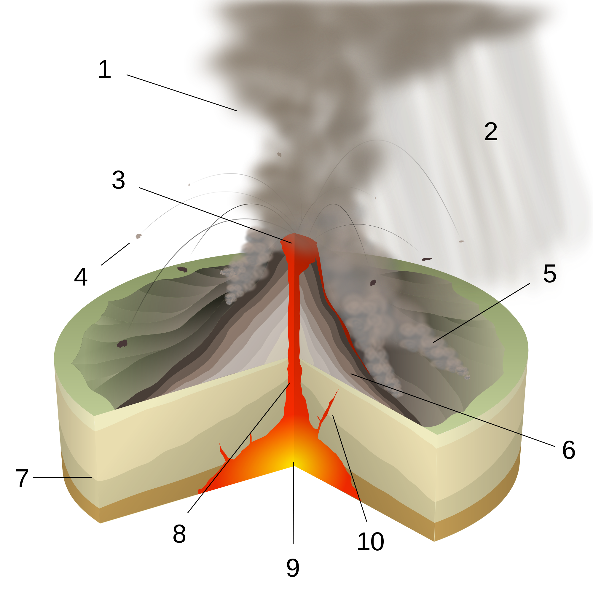 Stratovolcano svg #12, Download drawings