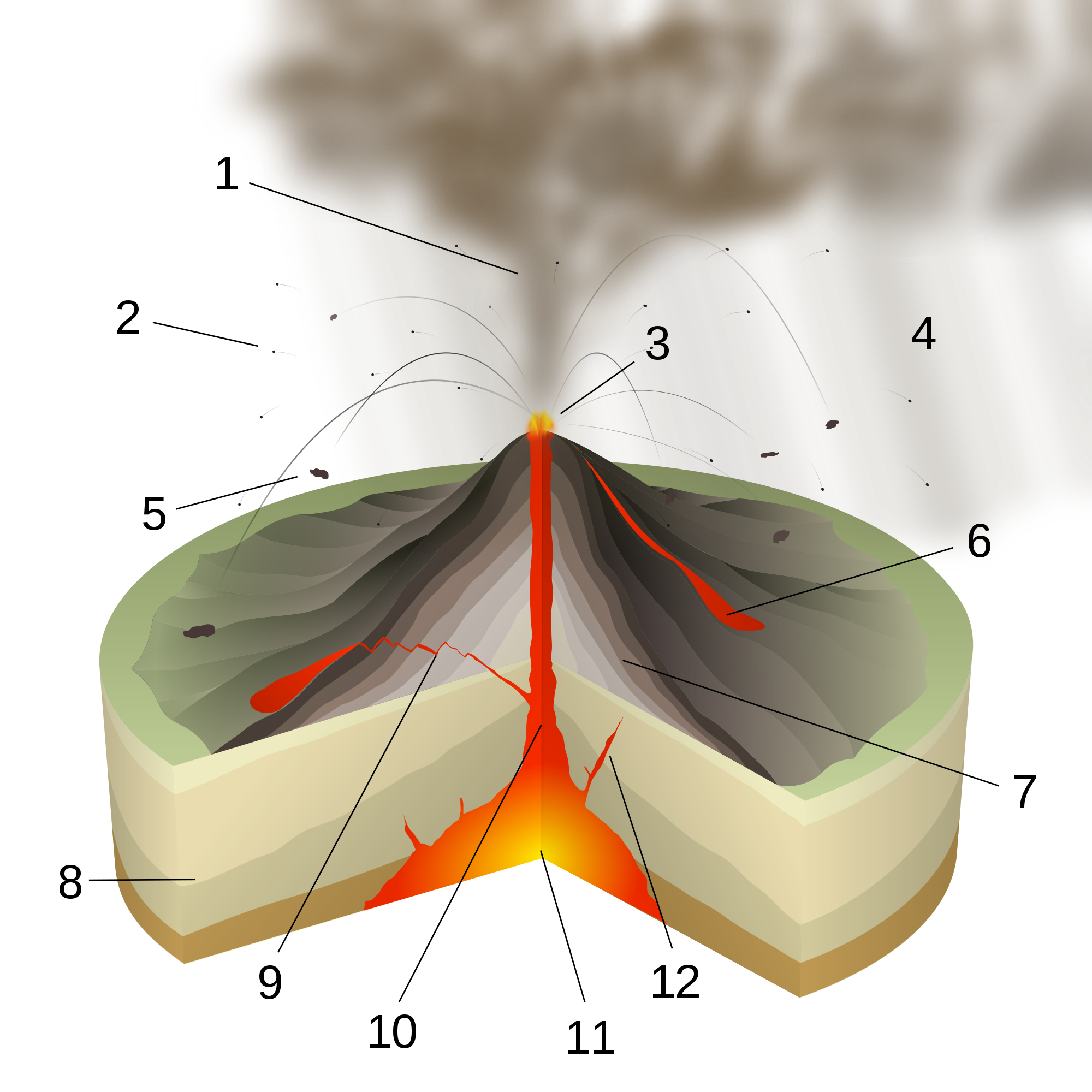 Stratovolcano svg #13, Download drawings