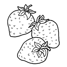 Strawberry coloring #20, Download drawings