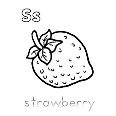 Strawberry coloring #2, Download drawings