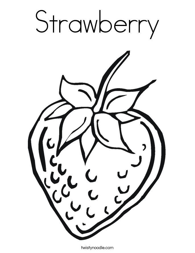 Strawberry coloring #13, Download drawings